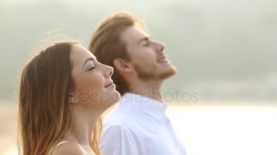 ademen man en vrouw