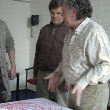 foto voor bij coach P.J. en Jacques